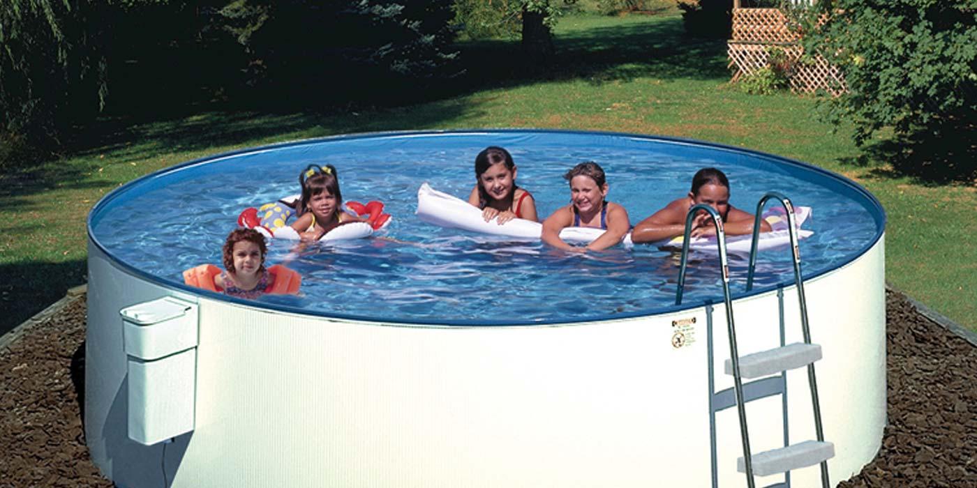 Summer fun einsteigerbecken for Schwimmbecken mit stahlwand